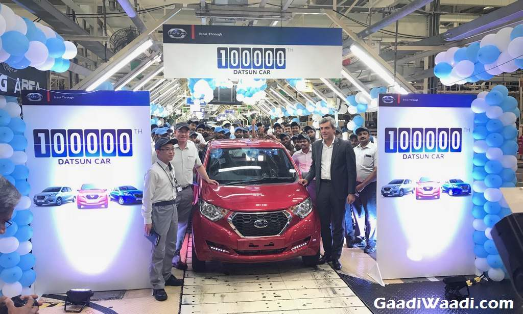 Datsun 1,00,000 Production Milestone India