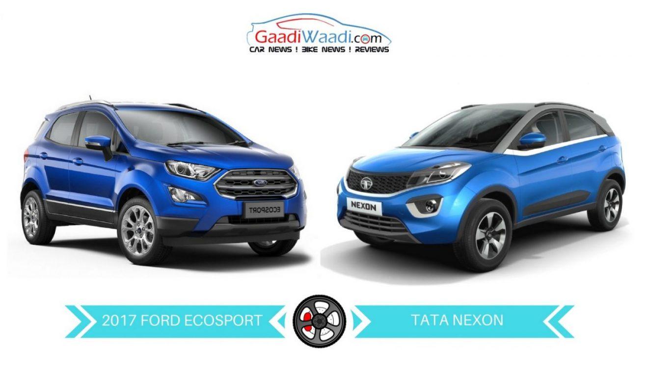 New Ford Ecosport Vs Tata Nexon Specs Comparison