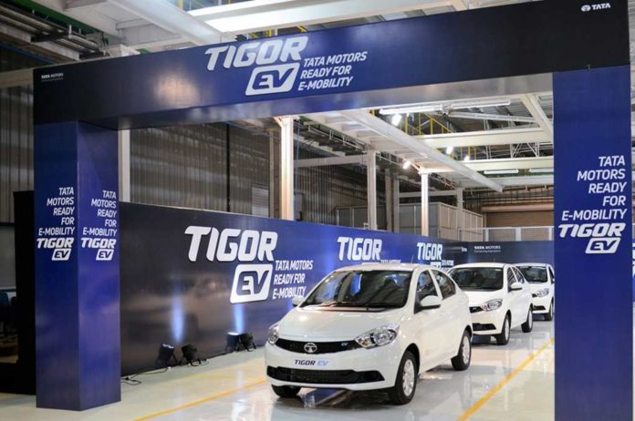 tata tigor ev rolled out sanand plant 1