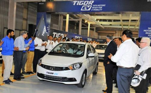tata tigor ev rolled out sanand plant