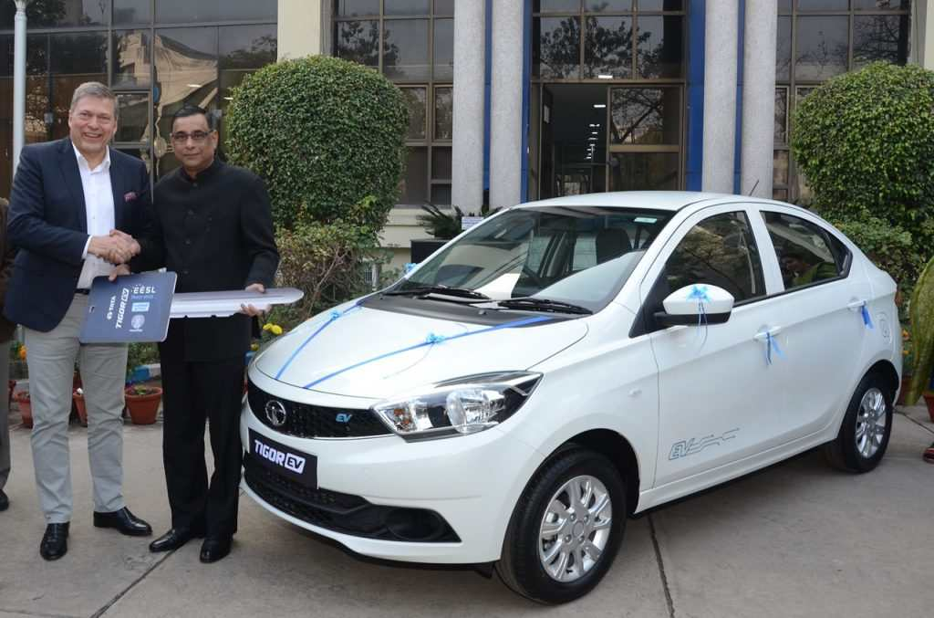 1st Batch Of Tata Tigor Electric Version Delivered To EESL