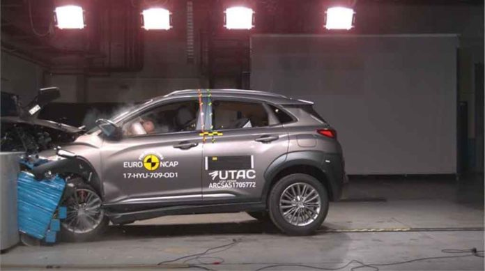 india bound hyundai kona scores five stars in euro ncap crash test. Black Bedroom Furniture Sets. Home Design Ideas