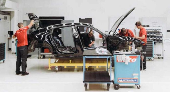 India-Bound Porsche Mission E Teased Showing Production Body