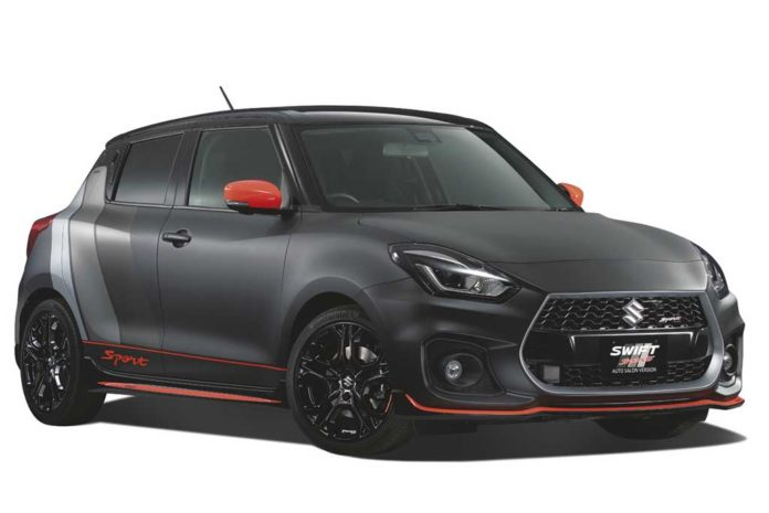 suzuki swift sport matte black version ready to rock tokyo auto salon. Black Bedroom Furniture Sets. Home Design Ideas