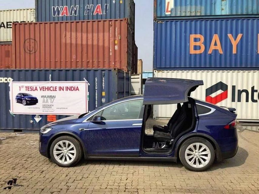 Tesla Model X Reaches India 1