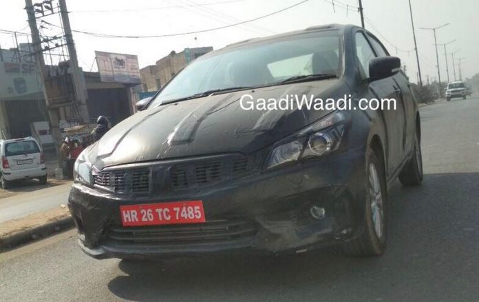 2018 Maruti Suzuki Ciaz Facelift Spotted Again With Sporty Styling