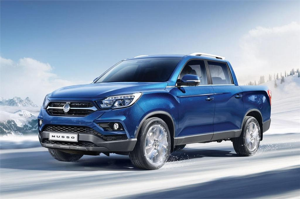 ssangyong rexton sports pickup truck launch price engine specs. Black Bedroom Furniture Sets. Home Design Ideas