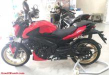 Bajaj Dominar 400 Racing Red Colour