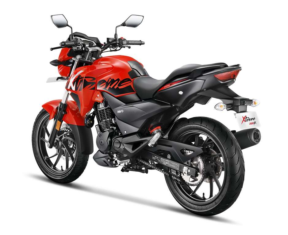 Xtreme 200 R Red 3-4th Back Rev Side