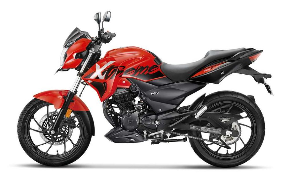 Xtreme 200 R Red Rev Side