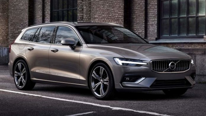 2018 Volvo V60 unveiled front side