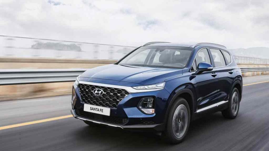 india bound 2019 hyundai santa fe launched in us from 25 500 rs lakh. Black Bedroom Furniture Sets. Home Design Ideas