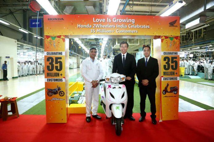 Honda 2Wheelers Achieve 35 Million Production Milestone In India