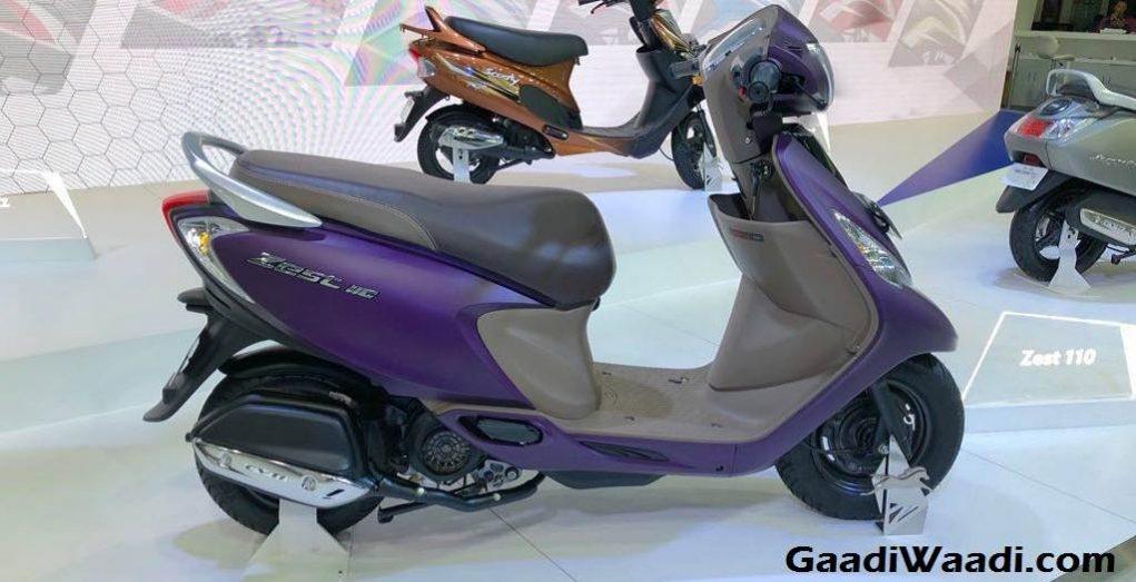 TVS Zest Matte Purple Colour 1