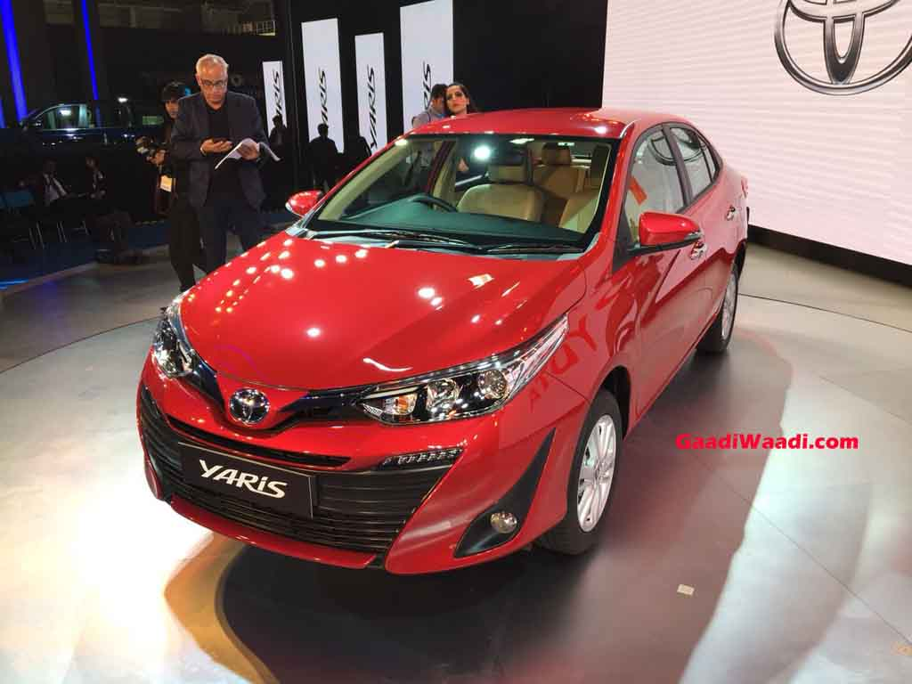 Toyota Yaris Hybrid 2018 >> 2018 Auto Expo: Toyota Yaris Sedan (Honda City Rival) Unwrapped Finally!