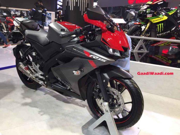 2018 Auto Expo Yamaha Displays R15 V3 With Optional Race Kit