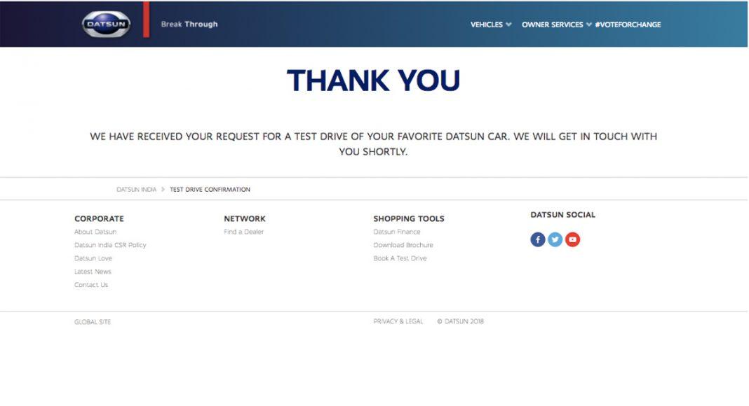 Datsun Automatic Test Drive Challenge24