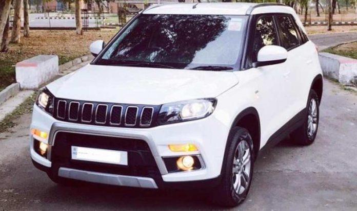 Here Is How Maruti Suzuki Vitara Brezza Is Modified Into Jeep Compass! 1