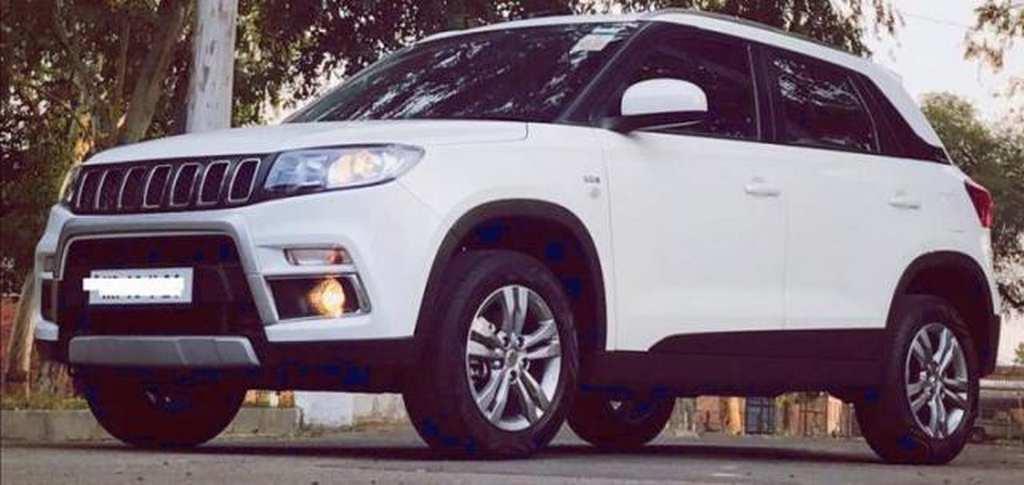 Here Is How Maruti Suzuki Vitara Brezza Is Modified Into Jeep Compass!