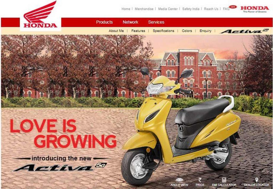 honda official site india