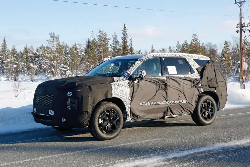 Upcoming Eight-Seat Hyundai SUV Spotted Testing 2