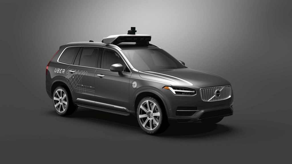 Volvo XC90 Uber driverless car