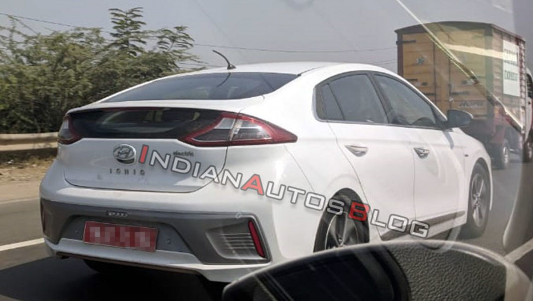 hyundai ioniq electric spotted india 1
