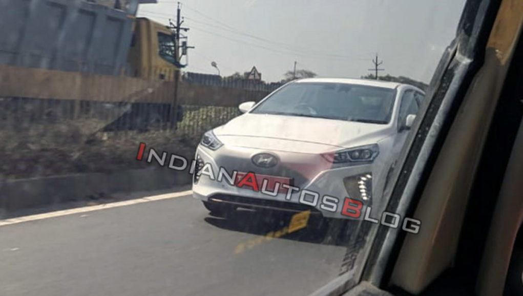 hyundai ioniq electric spotted india_