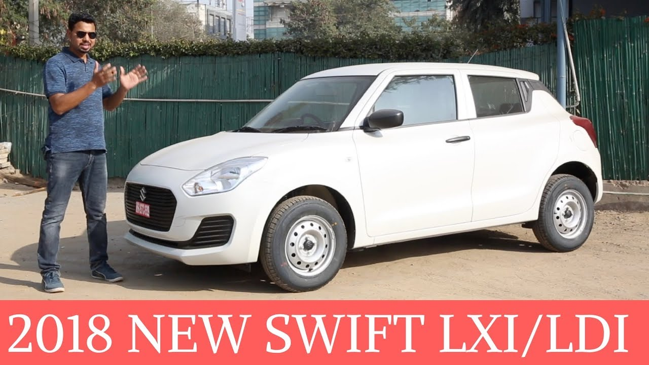 allnew 2018 maruti swift lxildi base variants overview