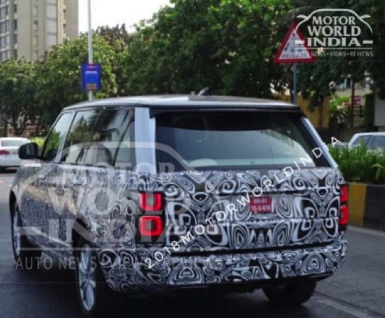 2018 Range Rover Facelift Spied In India 1