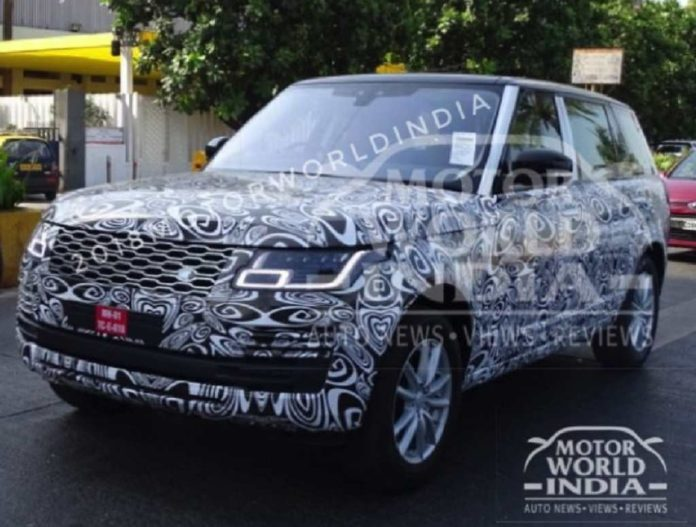 2018 Range Rover Facelift Spied In India