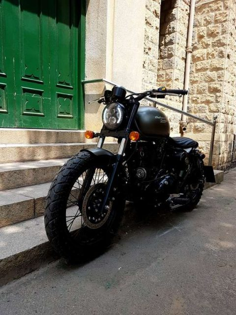 Bulleteer Customs Brat Bob based on Royal Enfield Thunderbird 350 3
