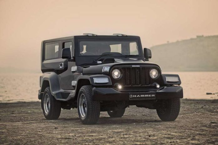 DC Hammer Based On Modified Mahindra Thar Is A Stunner
