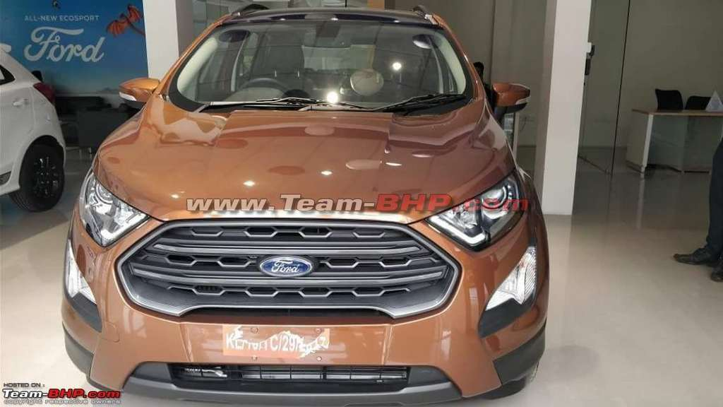 ford ecosport titanium s spied with sunroof and six speed mt. Black Bedroom Furniture Sets. Home Design Ideas