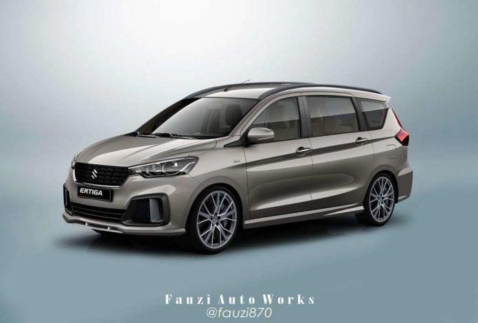 New Maruti Suzuki Ertiga Sport Rendered With Stylish Body Kit
