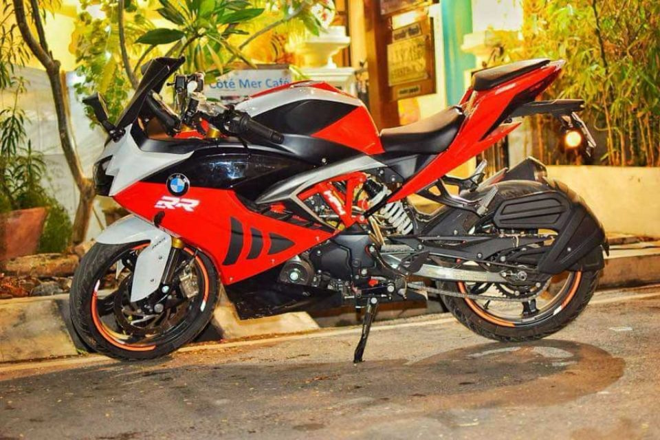 TVS Apache RR 310 Customised To Look Like BMW S1000RR 3
