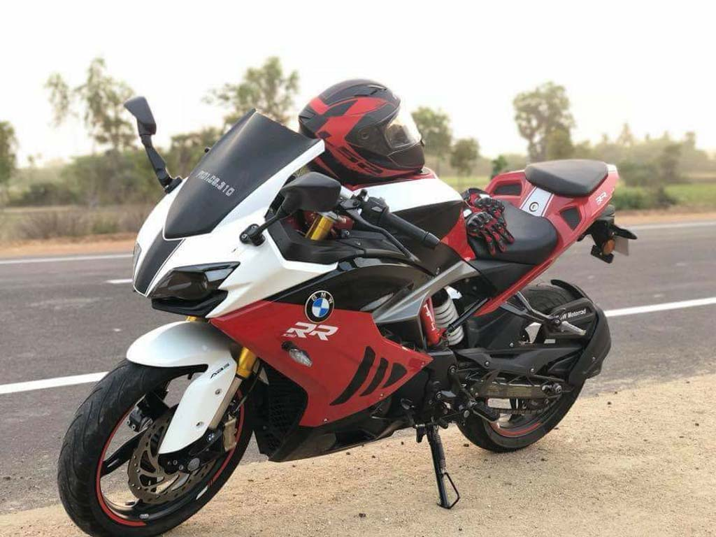 TVS Apache RR 310 Customised To Look Like BMW S1000RR_