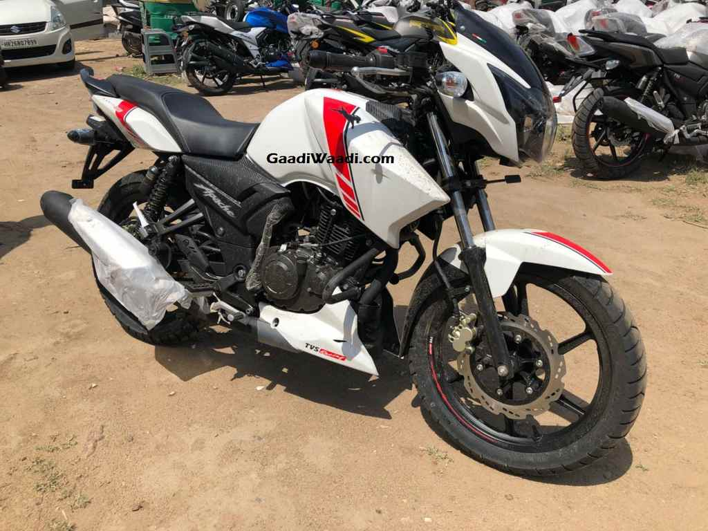 tvs apache rtr 160 white race edition launched in india at rs 79 715