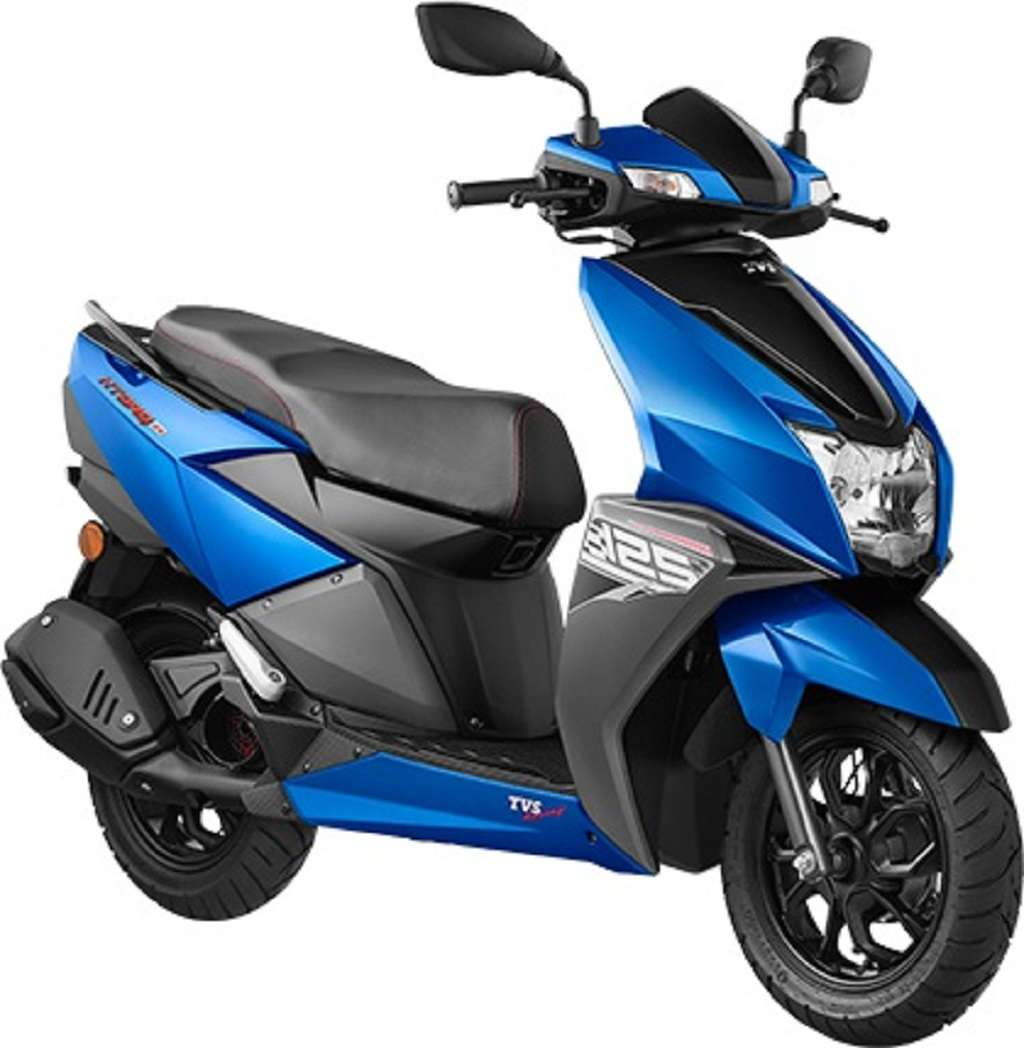 TVS Ntorq 125 Gets New Metallic Blue And Grey Colours In India