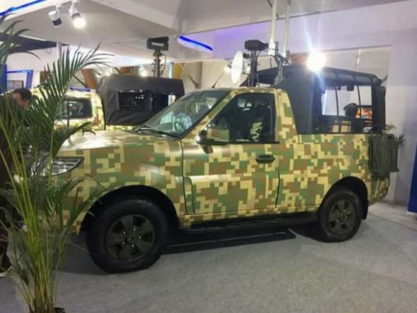 Tata Safari Storme GS800 Pickup Truck For Indian Army Revealed 1