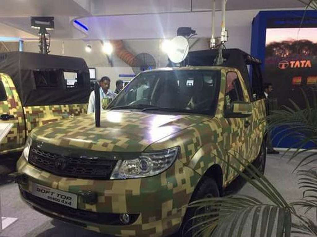 Tata Safari Storme GS800 Pickup Truck For Indian Army Revealed