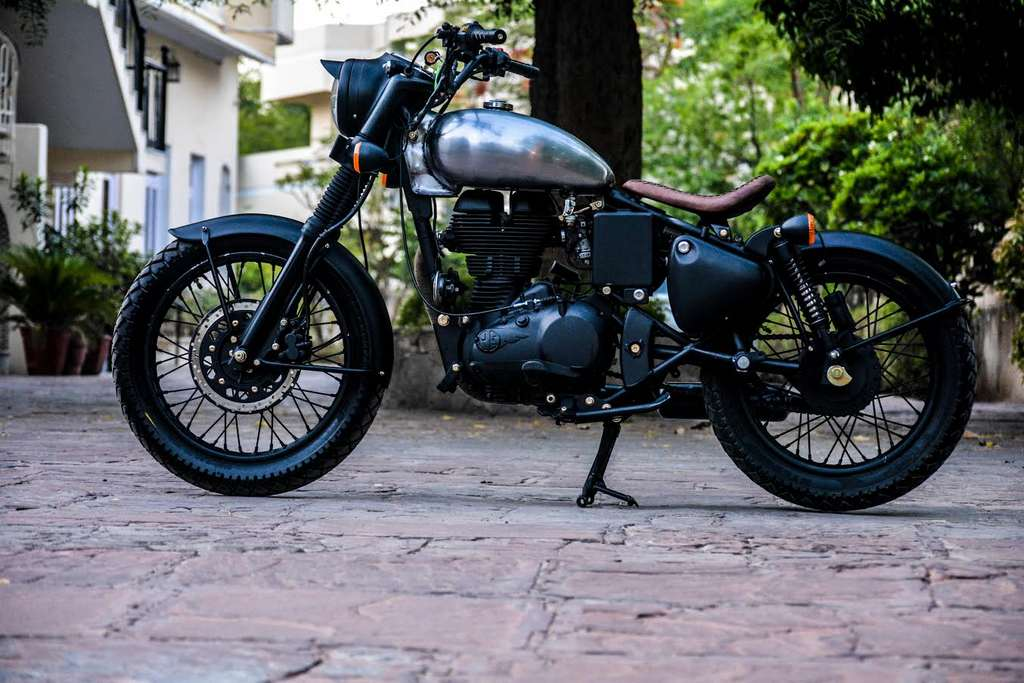 This Stripped Out RE Classic 500 by Rajputana Customs Is Attention Seeker