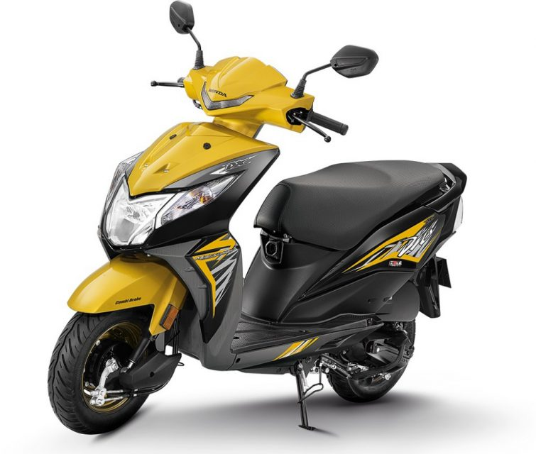 2018-Honda-Dio-Deluxe-variant-launched-in-India-yellow