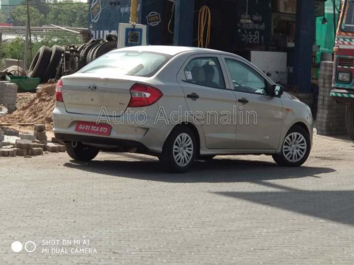 2019 Ford Aspire Facelift Spied Undisguised For The First Time