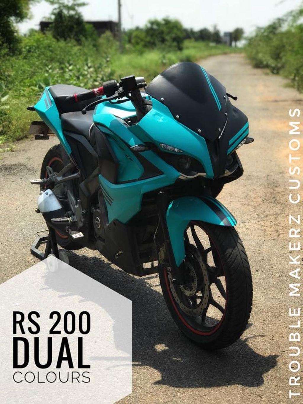 customised bajaj pulsar rs 200 by trouble makerz looks meaner
