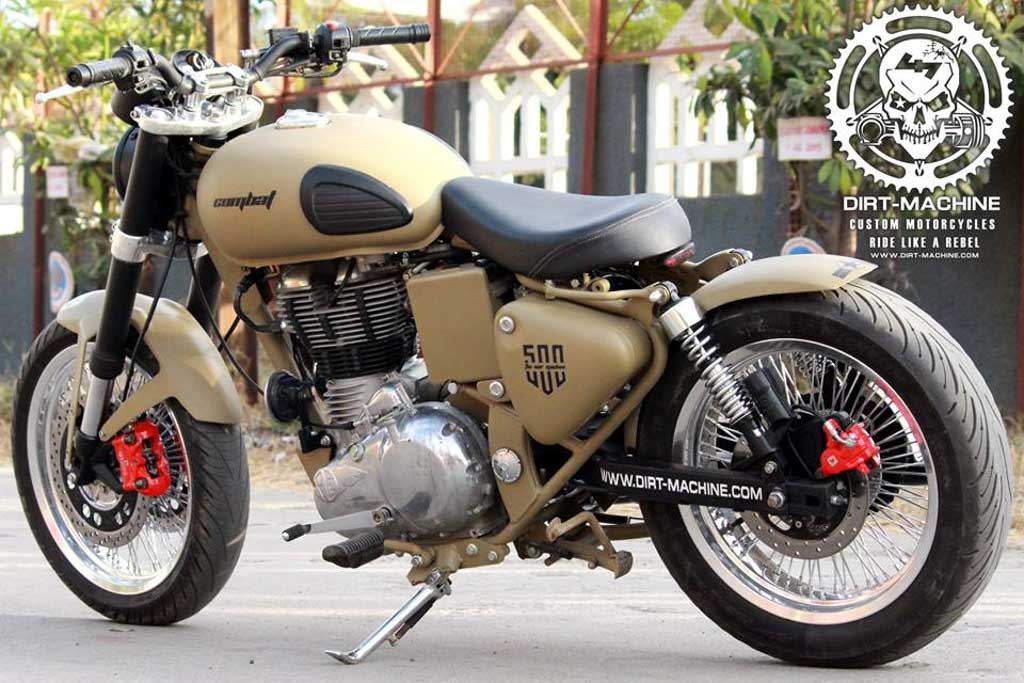 Dirt Machine Custom's Combat Based On Classic 500 Is Alluring 9