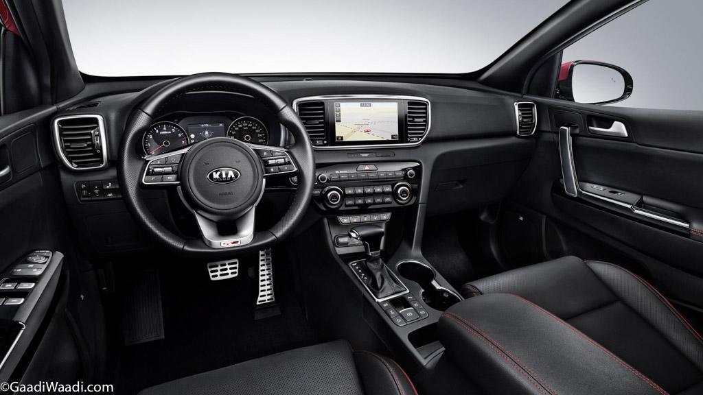 India-Bound 2019 Kia Sportage Interior