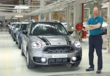 Jochen Stallkamp, Managing Director – BMW Group Plant Chennai with the all-new MINI Countryman as it rolls-out of the plant