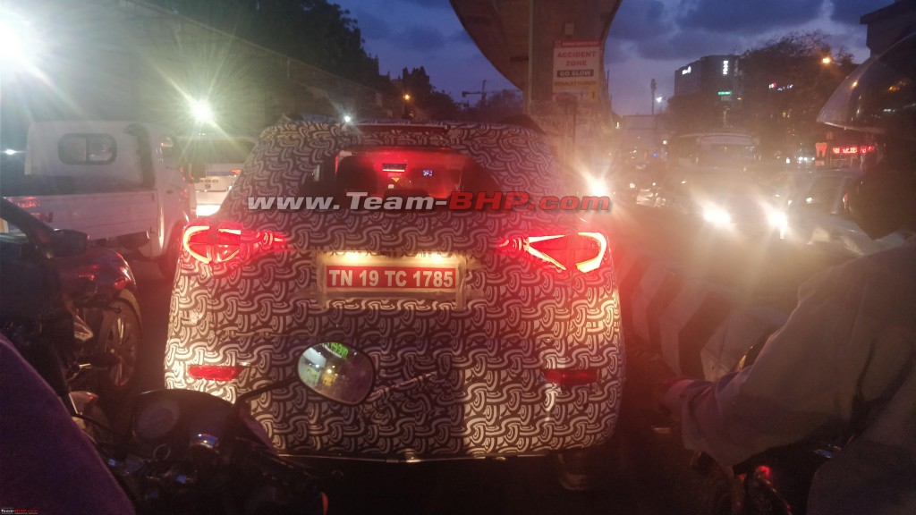 Mahindra-S201-Production-Model-Rear-Spied