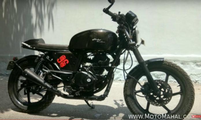 Modified Bajaj Pulsar 180 Cafe Racer